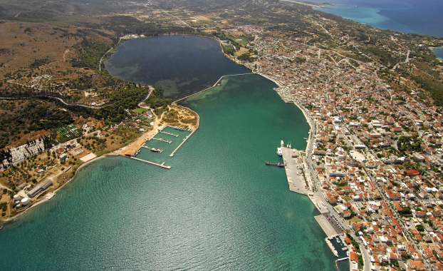 Aerial photo of Argostoli, Kefalonia
