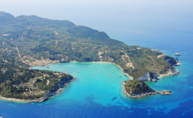 Aerial : Lakka on Paxos