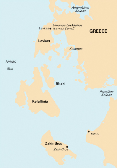 sivota greece map