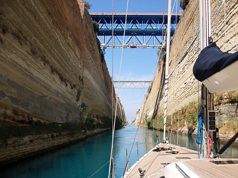 Corinth Canal - Bareboat sailing Greece