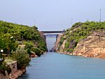 Cruising through the Corinth Canal