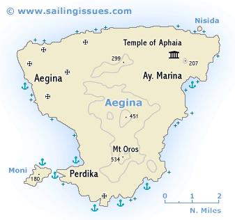 Aegina sailing guide Egina yachting sailing holidays and yacht