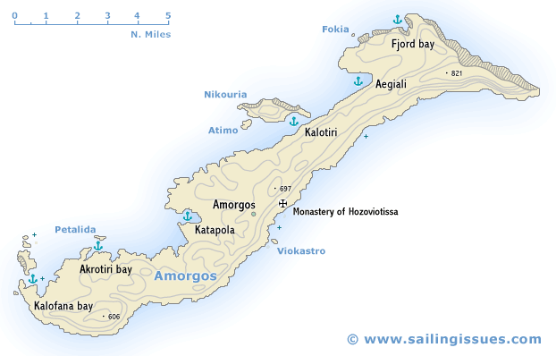 Amorgos island Amorgos maps and yacht charter guide