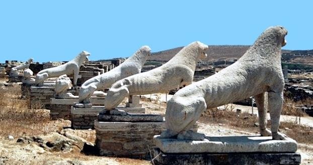 Lions Terrace on Delos Island