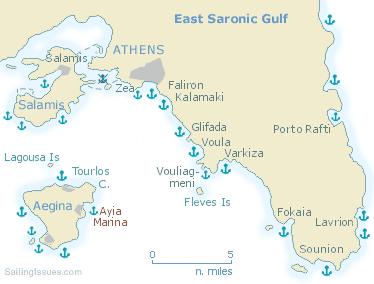 Saronic Gulf Athens yachting guide sailing holidays and yacht