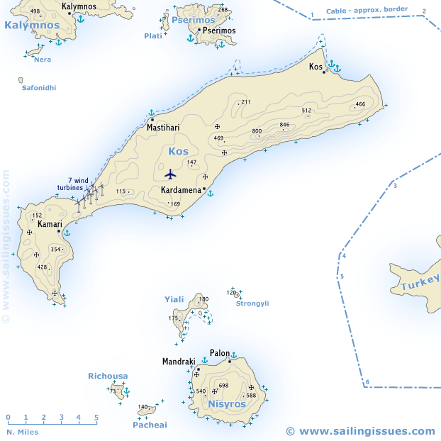 Kos and Nisyros sailing holidays and yacht charters - Kos ...
