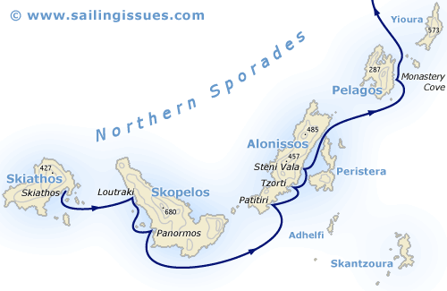 Sailing Yacht A >> Logbook Northern Sporades - Sailing vacations Greece