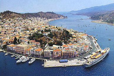 Photo of Poros town on Poros island.