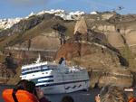 The cruise ship Sea Diamond sinking near Santorini