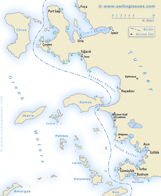 Turkey Ionian Coast Sailing And Yacht Charters Izmir Kusadasi Bodrum Ports And Anchorages Sailing Holidays Gulets Cruises