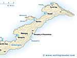 Map of Amorgos - one of the most beautiful islands in the Aegean Sea