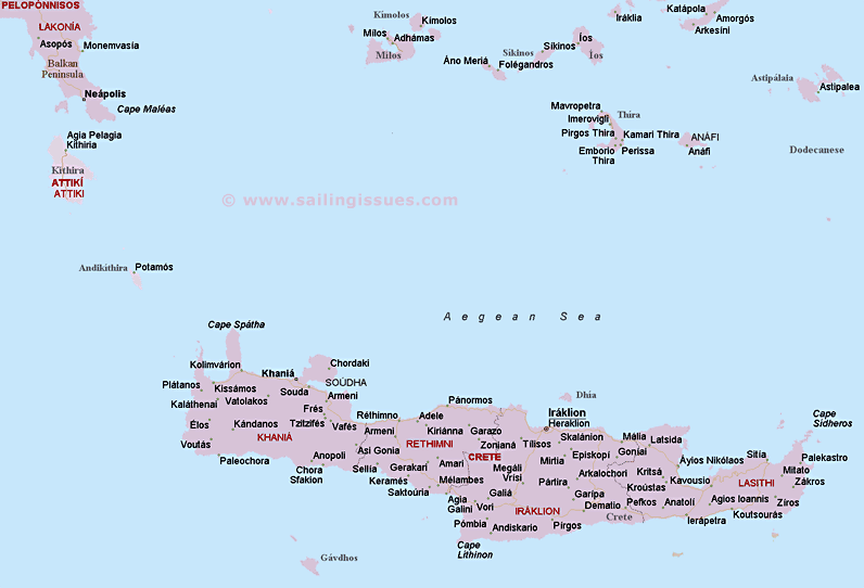 Map Of Crete Greece