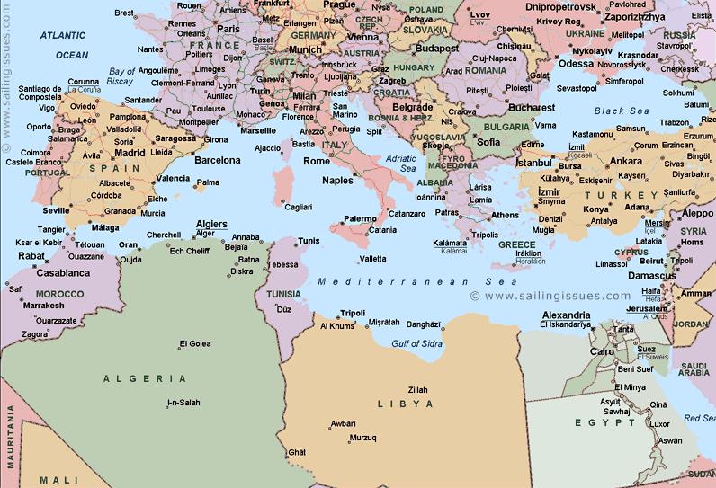 Http Mapssite Blogspot Com 2009 07 Map Mediterranean Html