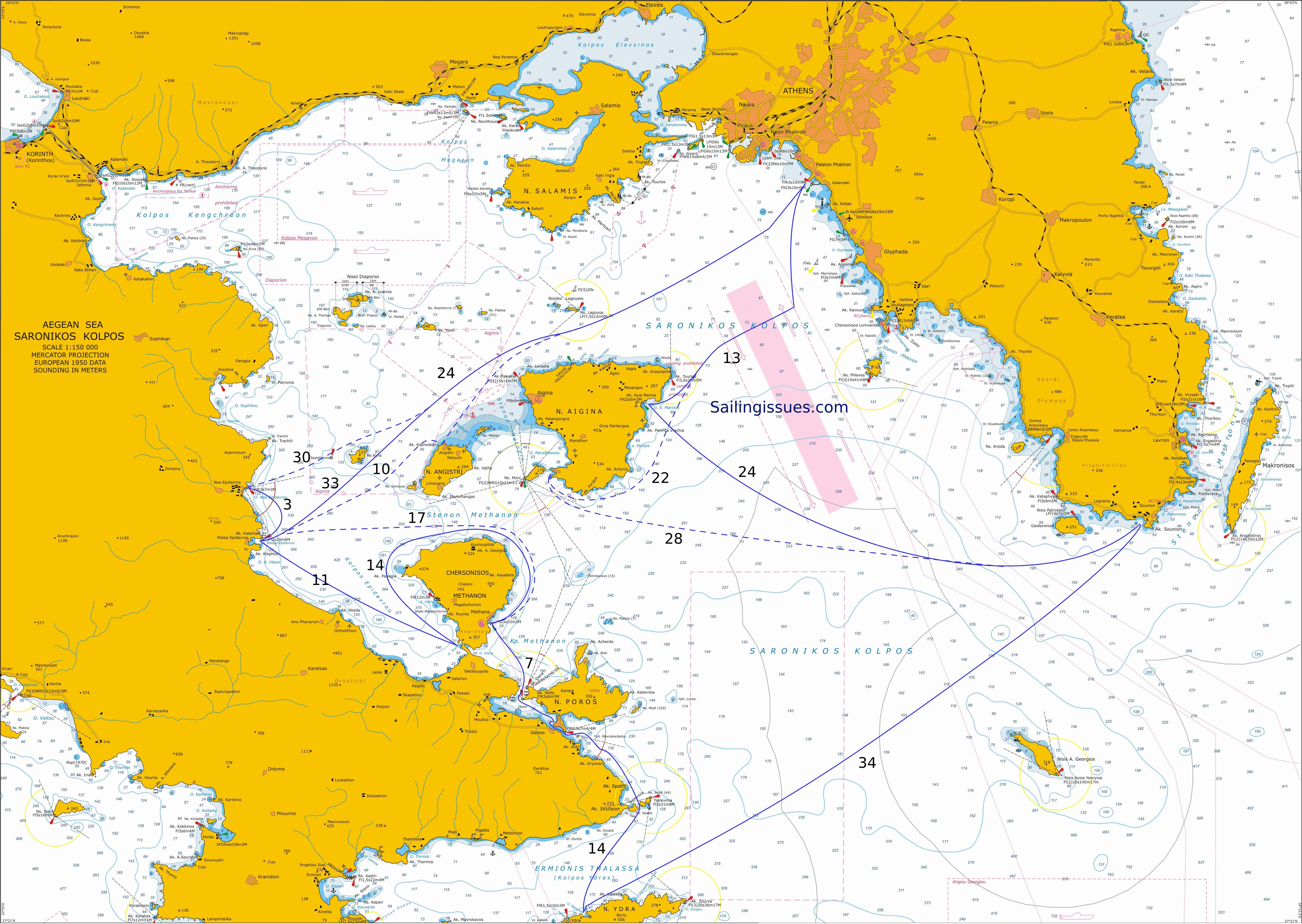 Itineraries in the Argolic and Saronic Gulfs - sailing