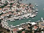 Aerial photo of Spetses port